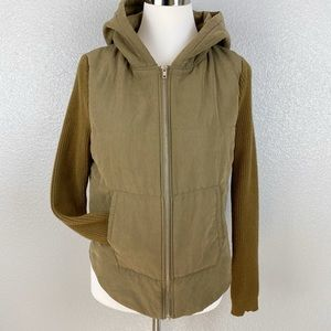 Love Tree Olive Green sweater sleeves Jacket